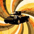 Visitekaartje # 231548 voor retro opdruk voor shirt over auto / motoren wedstrijd