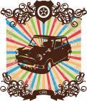 Visitekaartje # 232326 voor retro opdruk voor shirt over auto / motoren wedstrijd
