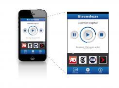 iPhone App design # 162646 voor New Ios App design for existing app 'Nieuwslezer' wedstrijd