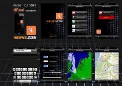iPhone App design # 162709 voor New Ios App design for existing app 'Nieuwslezer' wedstrijd