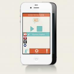 iPhone App design # 163189 voor New Ios App design for existing app 'Nieuwslezer' wedstrijd