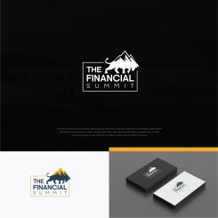 Logo design # 1060633 for The Financial Summit   logo with Summit and Bull contest