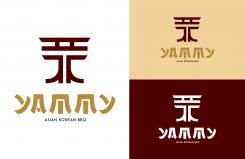 Logo # 1056993 voor ontwerp een horeca logo voor een nieuw te openen asian korean bbq restaurant wedstrijd
