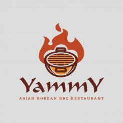 Logo # 1084287 voor ontwerp een horeca logo voor een nieuw te openen asian korean bbq restaurant wedstrijd