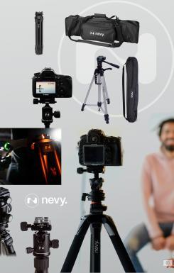 Logo # 1239553 voor Logo voor kwalitatief   luxe fotocamera statieven merk Nevy wedstrijd