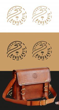 Logo # 1242178 voor Logo voor Tassen en lederwaren designer  Studio Bongaarts in Amsterdam  Steekwoorden  onderweg zijn  moderne retro wedstrijd