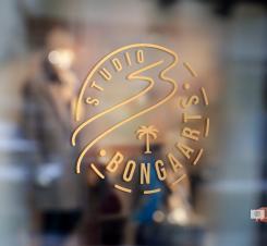 Logo # 1242180 voor Logo voor Tassen en lederwaren designer  Studio Bongaarts in Amsterdam  Steekwoorden  onderweg zijn  moderne retro wedstrijd