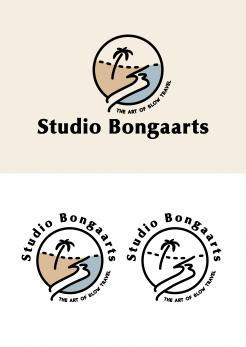 Logo # 1239000 voor Logo voor Tassen en lederwaren designer  Studio Bongaarts in Amsterdam  Steekwoorden  onderweg zijn  moderne retro wedstrijd