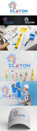 Logo # 1250482 voor Ontwerp een kleurrijke logo voor Cleton Schilderwerken! wedstrijd