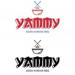 Logo # 1084421 voor ontwerp een horeca logo voor een nieuw te openen asian korean bbq restaurant wedstrijd