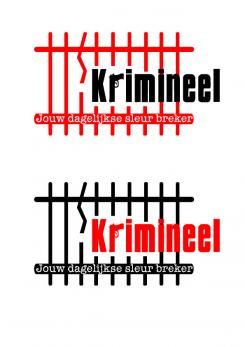 Logo # 508 voor Weblog 'Krimineel' jouw dagelijkse sleur breker - LOGO contest wedstrijd