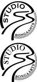 Logo # 1243668 voor Logo voor Tassen en lederwaren designer  Studio Bongaarts in Amsterdam  Steekwoorden  onderweg zijn  moderne retro wedstrijd
