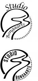 Logo # 1242426 voor Logo voor Tassen en lederwaren designer  Studio Bongaarts in Amsterdam  Steekwoorden  onderweg zijn  moderne retro wedstrijd