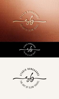 Logo # 1242200 voor Logo voor Tassen en lederwaren designer  Studio Bongaarts in Amsterdam  Steekwoorden  onderweg zijn  moderne retro wedstrijd