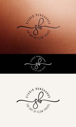 Logo # 1242203 voor Logo voor Tassen en lederwaren designer  Studio Bongaarts in Amsterdam  Steekwoorden  onderweg zijn  moderne retro wedstrijd