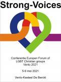 Logo # 1104707 voor Ontwerp logo Europese conferentie van christelijke LHBTI organisaties thema  'Strong Voices' wedstrijd