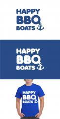 Logo # 1050099 voor Ontwerp een origineel logo voor het nieuwe BBQ donuts bedrijf Happy BBQ Boats wedstrijd