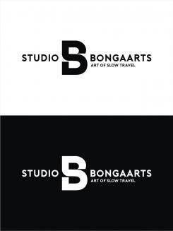 Logo # 1238819 voor Logo voor Tassen en lederwaren designer  Studio Bongaarts in Amsterdam  Steekwoorden  onderweg zijn  moderne retro wedstrijd