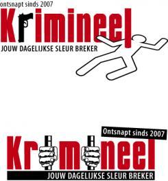 Logo # 533 voor Weblog 'Krimineel' jouw dagelijkse sleur breker - LOGO contest wedstrijd