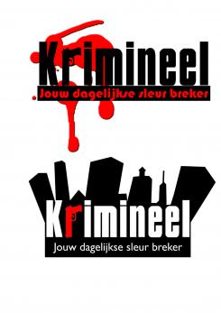 Logo # 585 voor Weblog 'Krimineel' jouw dagelijkse sleur breker - LOGO contest wedstrijd