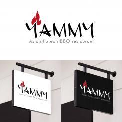 Logo # 1055885 voor ontwerp een horeca logo voor een nieuw te openen asian korean bbq restaurant wedstrijd