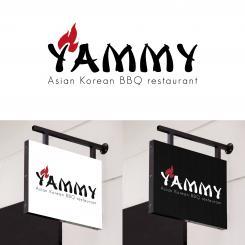 Logo # 1056186 voor ontwerp een horeca logo voor een nieuw te openen asian korean bbq restaurant wedstrijd