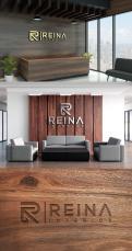 Logo & stationery # 1235776 for Logo for interior design  Reina  stam en staal  contest