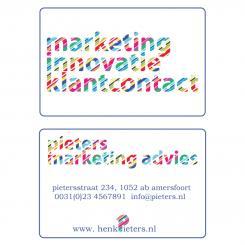 Logo & Huisstijl # 401 voor Fris en innovatief logo en huisstijl voor Pieters Marketing Advies wedstrijd