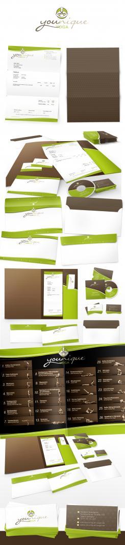 Logo & Corp. Design  # 503306 für Entwerfen Sie ein modernes+einzigartiges Logo und Corp. Design für Yoga Trainings Wettbewerb