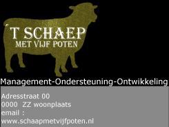 Logo & Huisstijl # 41739 voor 't Schaep met vijf Pooten zoekt een jasje - logo & huisstijl wedstrijd