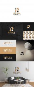 Logo & stationery # 1234137 for Logo for interior design  Reina  stam en staal  contest