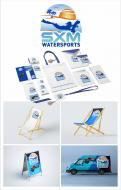 Logo & stationery # 1096180 for Logo and corporate identity for water sports company Caribbean Island contest