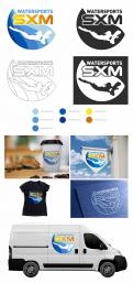 Logo & stationery # 1095957 for Logo and corporate identity for water sports company Caribbean Island contest