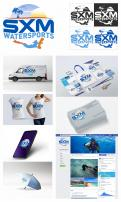 Logo & stationery # 1096368 for Logo and corporate identity for water sports company Caribbean Island contest