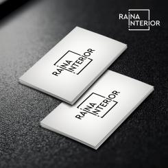 Logo & stationery # 1240192 for Logo for interior design  Reina  stam en staal  contest