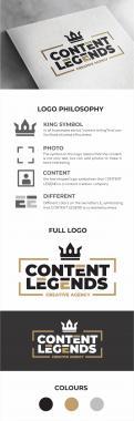 Logo & Huisstijl # 1217313 voor Rebranding van logo en huisstijl voor creatief bureau Content Legends wedstrijd