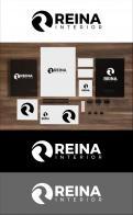 Logo & stationery # 1235611 for Logo for interior design  Reina  stam en staal  contest