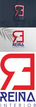 Logo & stationery # 1235271 for Logo for interior design  Reina  stam en staal  contest