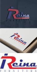 Logo & stationery # 1235084 for Logo for interior design  Reina  stam en staal  contest