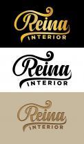 Logo & stationery # 1238407 for Logo for interior design  Reina  stam en staal  contest