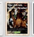 Print-Anzeige  # 349889 für Greenpeace Plakat-Wettbewerb 2014: Sujet für Plakat Kampagne zum Schutz des Sumatra Tigers Wettbewerb