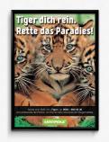 Print-Anzeige  # 349891 für Greenpeace Plakat-Wettbewerb 2014: Sujet für Plakat Kampagne zum Schutz des Sumatra Tigers Wettbewerb