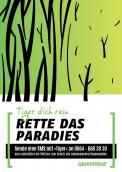Print-Anzeige  # 349749 für Greenpeace Plakat-Wettbewerb 2014: Sujet für Plakat Kampagne zum Schutz des Sumatra Tigers Wettbewerb