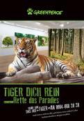 Print-Anzeige  # 350711 für Greenpeace Plakat-Wettbewerb 2014: Sujet für Plakat Kampagne zum Schutz des Sumatra Tigers Wettbewerb