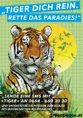 Print ad # 346143 for Greenpeace Poster contest 2014: Campaign for the protection of the Sumatra Tiger contest