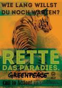 Print-Anzeige  # 350553 für Greenpeace Plakat-Wettbewerb 2014: Sujet für Plakat Kampagne zum Schutz des Sumatra Tigers Wettbewerb