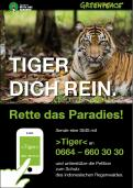 Print ad # 350324 for Greenpeace Poster contest 2014: Campaign for the protection of the Sumatra Tiger contest