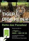 Print-Anzeige  # 350324 für Greenpeace Plakat-Wettbewerb 2014: Sujet für Plakat Kampagne zum Schutz des Sumatra Tigers Wettbewerb