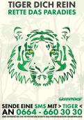 Print-Anzeige  # 350617 für Greenpeace Plakat-Wettbewerb 2014: Sujet für Plakat Kampagne zum Schutz des Sumatra Tigers Wettbewerb