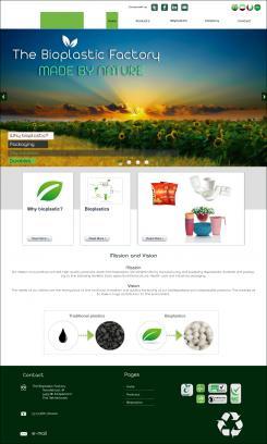 Website design # 438401 voor The Bioplastic Factory..we do good, but we want to do great with our new website! wedstrijd